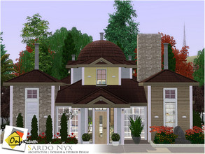 Sims 3 — Sardo Nyx by Onyxium — On the first floor: Living Room | Dining Room | Kitchen | Two Bathrooms | Adult Bedroom