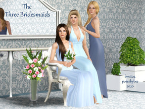 Sims 3 — The Three Bridesmaids by jessesue2 — The Three Bridesmaids set can be used for bridesmaid, a bride and two