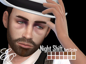 Sims 4 — Night Shift Dark Circles by EvilQuinzel — - Skin detail category; - Female and male; - Teen + ; - All species ;