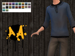 Sims 4 — Apocalypse Apparel - Rolled Henley - Cats and Dogs needed by Bluebrick04 — This is my most ambitious product