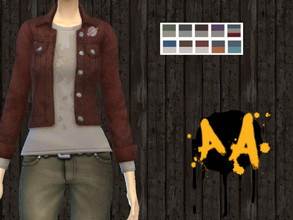Sims 4 — Apocalypse Apparel - Short Denim Jacket - Tiny Living by Bluebrick04 — This one's pretty nice-looking. It's