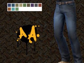 Sims 4 — Apocalypse Apparel - Stained Jeans by Bluebrick04 — This pair of jeans can fit both genders, features 12