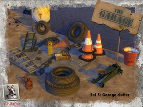 Sims 4 — The Garage - Set 5: Garage Clutter by Cyclonesue — More clutter for garages, yards or anywhere else you like.