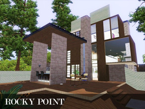 Sims 3 — Rocky Point by Scape — Rocky Point - A large, modern and open plan house for your sims. Built on the university