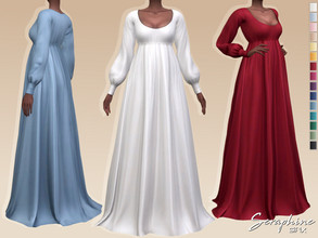 Sims 4 — Seraphine Dress by Sifix2 — - New mesh - 15 swatches - Base game compatible - HQ mod compatible - Teen - Young