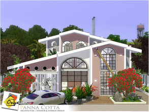Sims 3 — Panna Cotta by Onyxium — On the first floor: Living Room | Dining Room | Kitchen | Bathroom | Adult Bedroom |