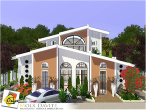 Sims 3 — Molx Davite by Onyxium — On the first floor: Living Room | Dining Room | Kitchen | Bathroom | Adult Bedroom |