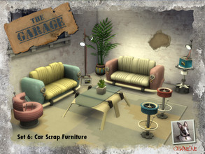 Sims 4 — The Garage - Set 6: Car Scrap Furniture by Cyclonesue — Now it's becoming ridiculous! This is the final set in