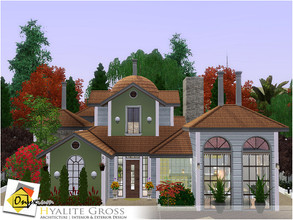 Sims 3 — Hyalite Gross by Onyxium — On the first floor: Living Room | Dining Room | Kitchen | Two Bathrooms | Young