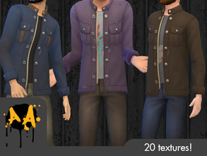 Sims 4 — Apocalypse Apparel - Militia Coat - Tiny Living needed by Bluebrick04 — As you can see, I've made an official