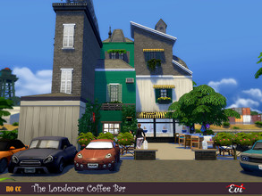 Sims 4 — The Londoner Bar by evi — The best open air bar in the center. Very popular and a great meeting place.