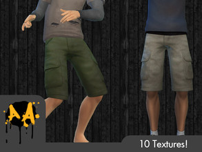 Sims 4 — Apocalypse Apparel - Cargo Shorts by Bluebrick04 — Finally, something for summer in the apocalypse! These highly
