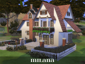 Sims 4 — Milana by Rosaralati2 — Beautiful old-fashioned house for a small family. Includes 2 bedrooms and 2 bathrooms.
