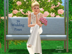 Sims 3 — 34 Wedding Poses by jessesue2 — Finally the wedding poses have been updated! These non traditional wedding poses