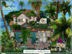 Sims 4 — Pet's Exotic Vet by simmer_adelaina — Pet's Exotic Vet is a clinic right on the island so you can easily bring