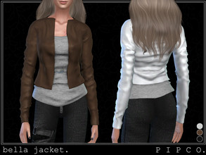 Sims 4 — pipco - bella jacket. by Pipco — a stylish leather jacket.