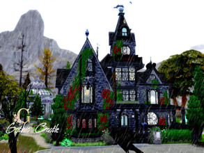 Sims 4 — Gothic Castle by GenkaiHaretsu — I present to you today big gothic castle with 4 main bedrooms, 2 guest rooms
