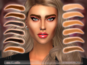 Sims 4 — Eyebrows N8 by cosimetic — - This eyebrow can use on all genders and from teen to elder. - Contains [ 12 ]