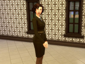 Sims 4 — Female Military Uniform | 40s Inspired by lucydels98 — I made a 1940s inspired military uniform based upon