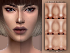 Sims 4 — Contour N4 by cosimetic — - This contour can use on all genders and from teen to elder. - Contains [10] colors