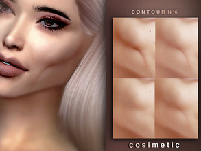 Sims 4 — Contour N6 by cosimetic — - This contour can use on all genders and from teen to elder. - Contains [10] colors
