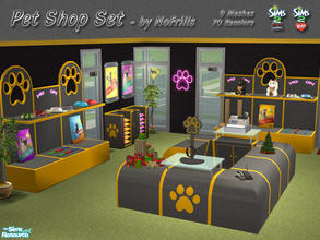 Sims 2 — Pet Shop Items by NoFrills — Some items designed for Sims pet shops. There are 9 meshes and 70 recolors in this