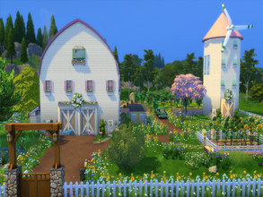 Sims 4 — Farm House by susancho932 — Old SimsDonald has a farm and on that farm he has a cow that goes Moo Moo here and a