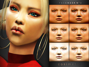 Sims 4 — Facemask N3 Gigi by cosimetic by cosimetic — - This facemask can use on all genders and from teen to elder. -