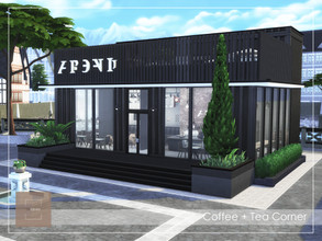 Sims 4 — Restaurant and Coffee + Tea Corner by arlaney — In the restaurant you will find coffee + tea corner offers an