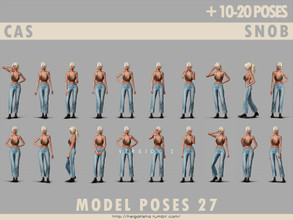 Sims 4 — Model poses 27 CAS snob by HelgaTisha — 10-20 poses CAS snob