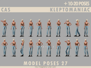 Sims 4 — Model poses 27 CAS kleptomaniac  by HelgaTisha — 10-20 poses CAS kleptomaniac