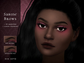 Sims 4 — Sabine Eyebrows - Eva Zetta by Eva_Zetta — A natural, full brow for your sims - Comes in 18 EA swatches - Made