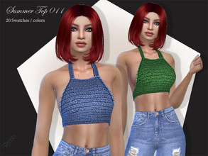 Sims 4 — Summer Top 011 by pizazz — A fun summer top for those hot days. NEW MESH included with download Base game 20