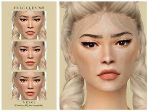 Sims 4 — Freckles N07 by -Merci- — Freckles for both genders and child-elder. Have Fun!