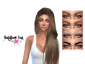 Sims 4 — Glamour Goddess Eyebrows no.2 by teekdafreek2 — Natural eyebrows in dark and faded swatches for each tone