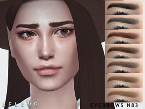 Sims 4 — Eyebrows N83 by Seleng — Female and Male 10 colours Custom Thumbnail The picture was taken with HQ mod Happy