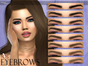 Sims 4 — [MH] Eyebrows N25 by MagicHand — --12 available colors-- --Compatible with HQ settings-- --CAS thumbnail--