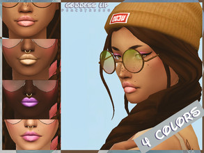 Sims 4 — Goddess Lip N21 by peachtreees — Lipstick in 4 colors, female only, available teen through elder.