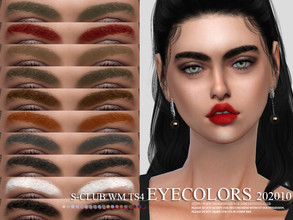 Sims 4 — S-Club WM ts4 Eyebrows 202010 by S-Club — Eyebrows 17 swatches, hope you like, thank you.