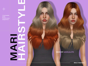 Sims 3 — LeahLillith Mari Hairstyle by Leah_Lillith — Mari Hairstyle All LODs Smooth bones Custom CAS thumbnail