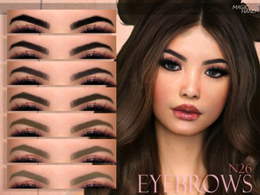 Sims 4 — [MH] Eyebrows N26 by MagicHand — --12 available colors-- --Compatible with HQ settings-- --CAS thumbnail--
