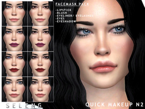 Sims 4 — Quick Makeup N2 by Seleng — Quick makeup / NPC makeup: Easy makeup if you don't want to spend time changing