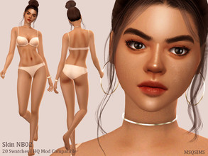 Sims 4 — Skin NB02 by MSQSIMS — - Base Game - 20 Swatches - Female - Teen - Elder - Skin Detail Category - Custom