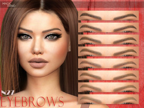 Sims 4 — [MH] Eyebrows N27 by MagicHand — --12 available colors-- --Compatible with HQ settings-- --CAS thumbnail--