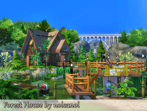 Sims 4 — Forest House by nolcanol — Forest House is a small, charming house that fits in perfectly with the surrounding