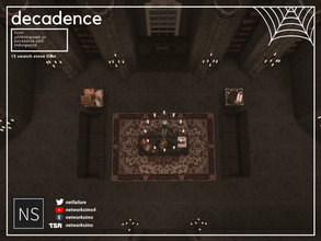 Sims 4 — Decadence Stone Floor - Networksims by networksims — Ornate stone floor tiles in 15 colour swatches.