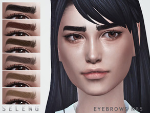 Sims 4 — Eyebrows N85 by Seleng — Female and Male 10 colours Custom Thumbnail The picture was taken with HQ mod Happy