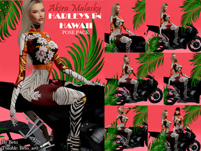 Sims 4 — Harleys In Hawaii (Pose Pack) by Beto_ae0 — Poses inspired by Katy perry's Harleys In Hawaii music video, hope