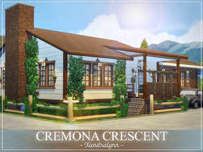 Sims 4 — Cremona Crescent by Xandralynn — A bungalow style home suitable for a couple of grandparents or a small sim