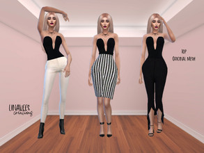 Sims 4 — Zooty Black Top  by linavees — Original Mesh Custom thumbnail Base game compatible Happy simming!